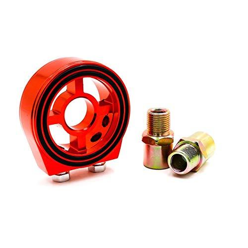 NO-LOGO XFC-Kong, Universal-Ölfilter Cooler Sandwich-Platten-Adapter M20 * 1,5 und 3/4-16 Sandwich Adapter Ölmeßvorrichtung (Farbe : Rot)
