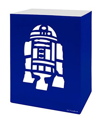 Star Wars R2 D2 Boîte de lumière, bleu, Taille unique