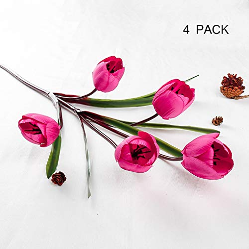 Sarazong Tulipe Fleur Artificielle Bourgeon Fleur Faux Fleur Salon Ameublement Faux Fleur Faux Fleur, Fleur Artificielle pour La Décoration Intérieure,B