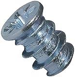 AERZETIX - Juego de 100 - Tornillo Euro para Mueble/Armario/Alacena - Ensamblaje de madera - Ø6.3x9mm - Acero galvanizado - Metal - Huella Pozidriv - C44757