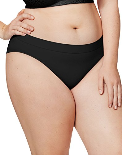 Just My Size Women's Plus Size 5-Pack Ultra Soft Bikini, Assorted Colors, 12