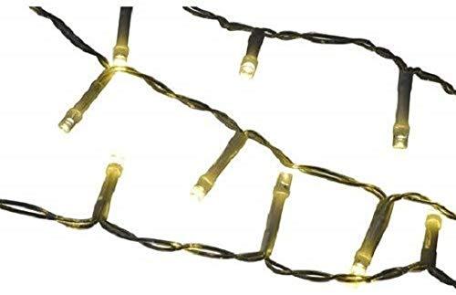 Lichterkette - 80er - warmweiß - Netzbetrieb - Netzkabellänge 1,5m - Gesamtlänge - 7,43 m - Abstand der Lämpchen: 7,5 cm - grünes Kabel - von Lafiora - (2 Stück)