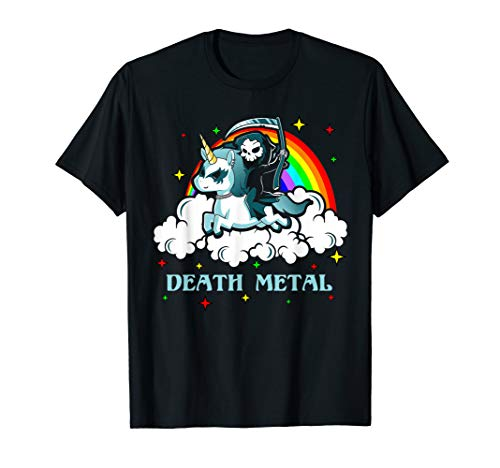 Einhorn Death Metal Rocker Go To Hell Shirt