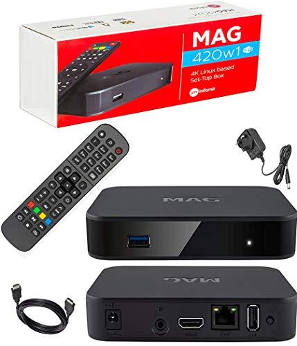 MAG 420w1 Original Infomir 4K IPTV Kit Set TOP Box MAG420 W1 Multimedia...