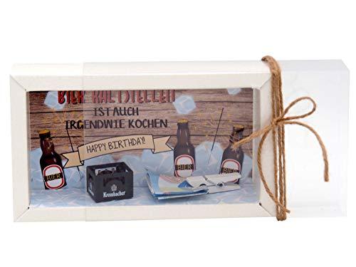 ZauberDeko Geldgeschenk Verpackung Bier Happy Birthday Geschenk Männer Geschenkidee Geburtstagsgeschenk