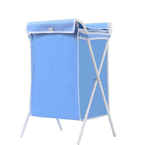 Xuan - Worth Another Panier Blanc Bleu de Panier de Stockage matériel de Tissu d'Oxford de Panier Sale de Tube avec la Couverture