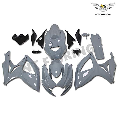 Plastic Glossy Gray Fairing Fit for Suzuki 2006 2007 GSXR 600/750 Injection Mold ABS Bodywork New Aftermarket Bodyframe Kit Set 06 07 GSX-R 600 750 wYGY