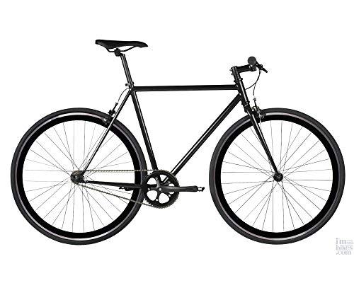 RAY Fixie Negra Bicicleta Urbana con Llantas de Perfil 40 (Talla 50)