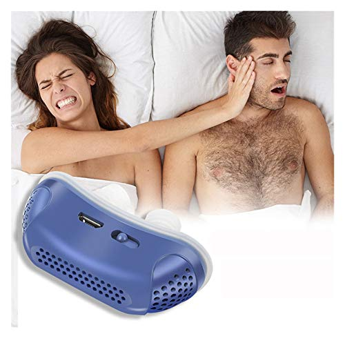 HKD Eléctrico Antirronquidos Silicona TapóN Nariz Anti Ronquidos para Hombres Mujeres (Color : Blue)