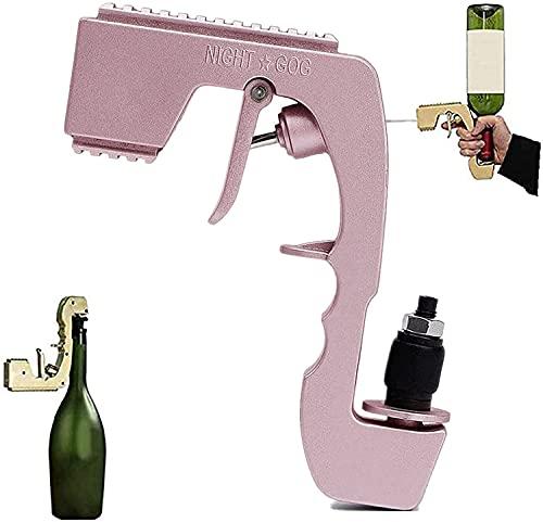 ObstOb Sacacorchos para Rociador De Pistola De Champagne, Tapón De Vino Ajustable, Pistola De Chorro De Champán Burbujeante De Vino Espumoso para Fiesta/Pub/Bar Rosa