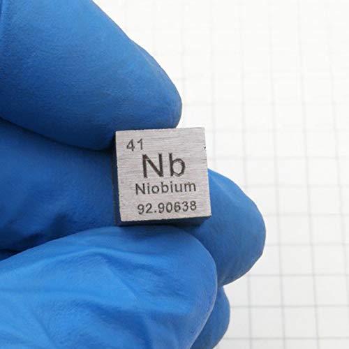 Cubo De Metal De Niobio De 10mm De Densidad 99,99% Puro para