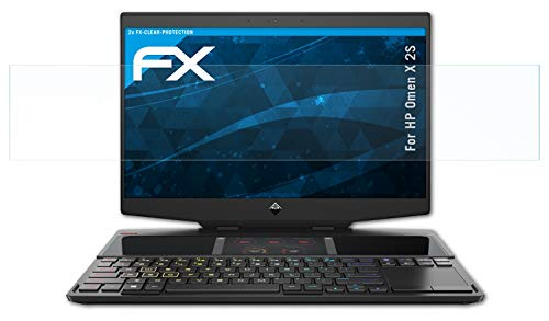 atFolix Schutzfolie kompatibel mit HP Omen X 2S Folie, ultraklare FX Bildschirmschutzfolie (2er Set)