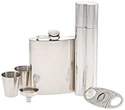 flask and cigar set