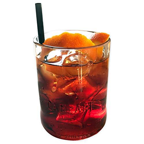 Glass MaDe Campari - Coppia Bicchieri Artigianali da 400ml in Vetro da Cocktail Aperitivo