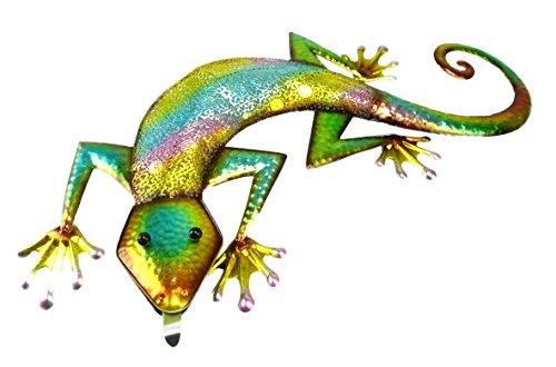Christmas Concepts 57cm Colorido Metal Lizard Wall Art - Interior/Decoración de jardín al Aire Libre
