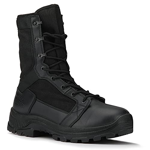 ROCKROOSTER M.G.D.B Military and Tactical Boots for men, 8 inch X-wide...