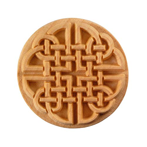 MKM Pottery Tools'Stamps 4 Clay' Extra Large Round Decorative Stamp for Clay (Scxl-015 Celtic Knot)