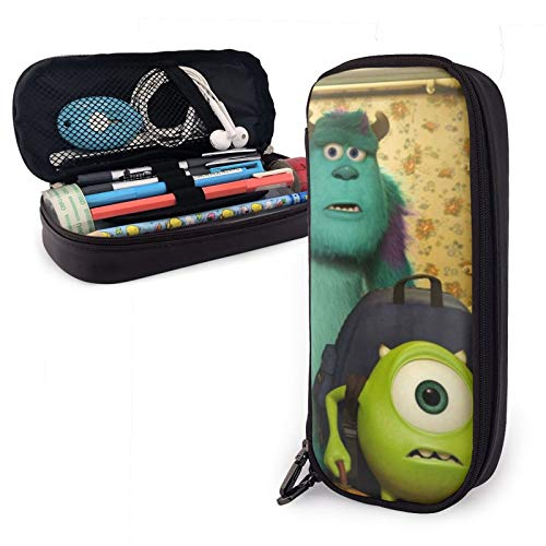 Monster University PU Leather Pattern Pencil case Stationery Bag