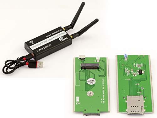 Kalea Informatique USB-Adapter für M.2 WWAN LTE (M2 Socket 2 SSIC-Base WWAN) – mit SIM-Kartenhalter kompatibel 3G 4G