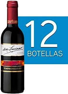 Lote de 12 Botellines Botellas Vino Don Luciano Tempranillo Cosecha 375ml - Vinos Baratos para Detalles de Bodas