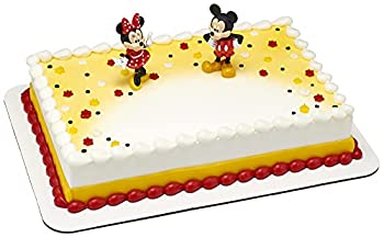 DecoSet® Mickey Mouse and Minnie Cake Topper 2-Piece Topper Set with Your Favorite Mice Couple Enjoy Hours of Fun After the Party