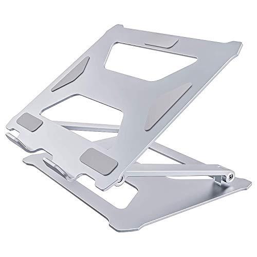 LUOSHEN Soporte de Sobremesa PortáTil, AleacióN de Stand-Ajustable Soporte de Aluminio Ordenador con Estribo de ElevacióN Calor y VentilacióN FuncióN ErgonóMica para el Ordenador PortáTil