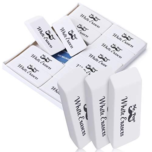 Mr. Pen- Erasers, Pencil Eraser, 12 Pack, White Erasers, Eraser, Erasers for Drawing, Eraser Pencil, Pencil Erasers, Erasers for Kids, Art Erasers for Drawing, Artist Eraser, White Eraser, Art Eraser
