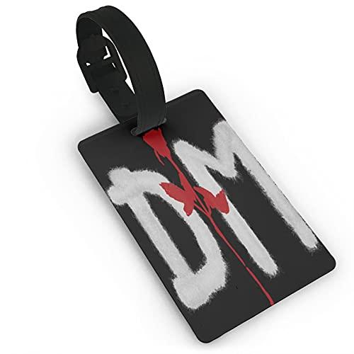 Depeche Mode Logo Etichette per bagagli Unisex Valigia Etichette per Bagagli Tag Id Tag con Posteriore Completa Copertura Privacy per Navi da Crociera Accessori Da Viaggio Tag