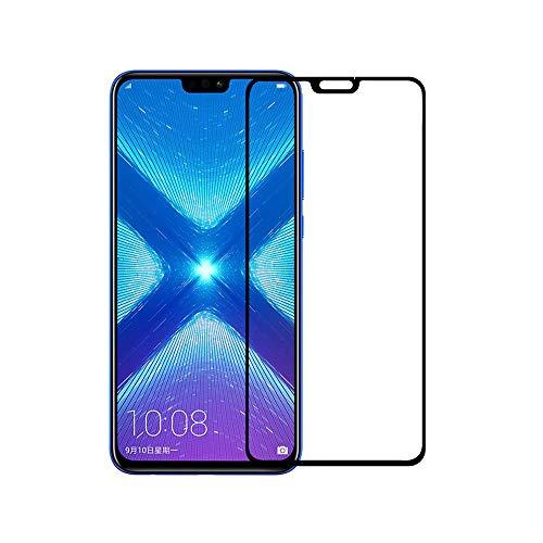 8X Huawei Honor / Honor Ver 10 Lite Film protecção para vidro temperado, Protetor de Tela QULLOO 2.5D Cobertura completa Ultra Clear Anti-resistente ao choque protetor de tela de vidro temperado para Huawei Honor 8X-2PACK
