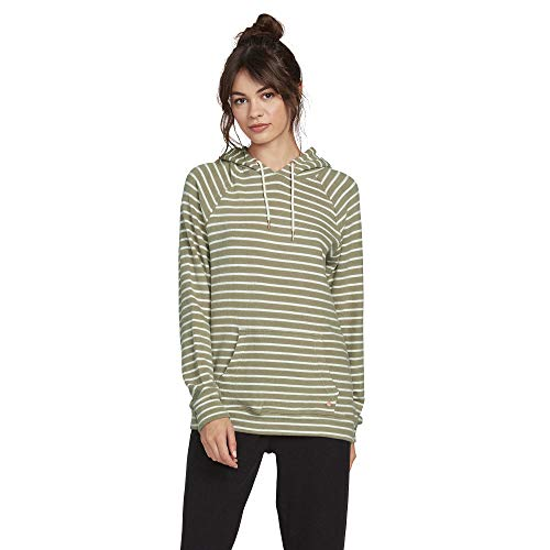 Volcom Women's Lil Hoodie Hooded Fleece Sweatshirt, Dusty Green, S