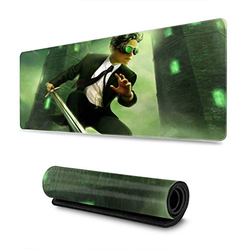 XCNGG Arte-mis Fo-wl Mouse Pad Rectangle Non-Slip Rubber Electronic Sports Oversized Large Mousepad Gaming Dedicated,for Laptop Computer & PC 11.8X31.5 Inch