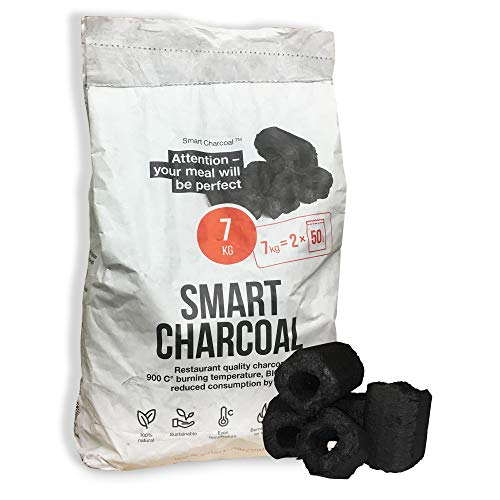 Smart Charcoal Briquettes - Natural Restaurant Grade BBQ Charcoal Briquettes