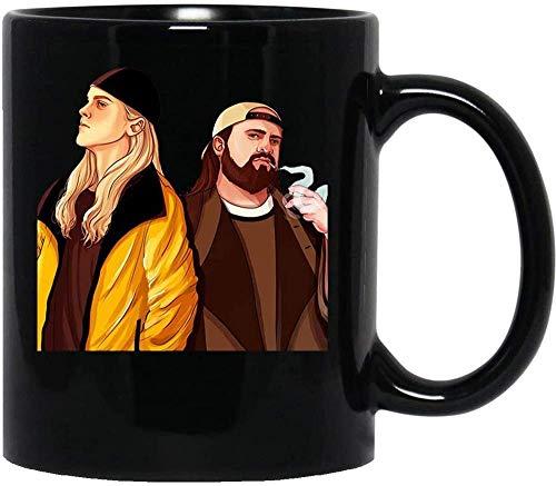 NA Jay & Bob Fiktive Charaktere Jay und Silent Bob Schlagen zurück Gerechtigkeit Geschenkbecher Tasse Keramik