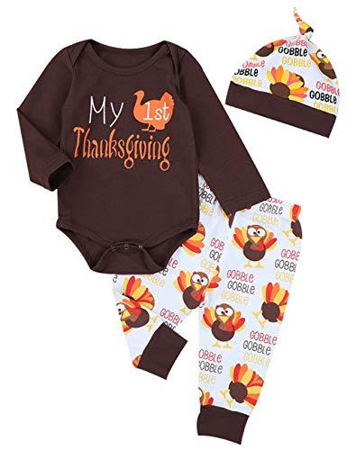 Thanksgiving Outfits Newborn Boy Girl My First...