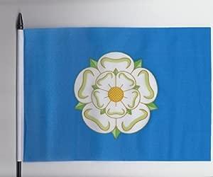Yorkshire County Medium Hand Held Flag 23cm 15cm