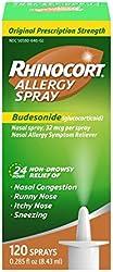 Rhinocort Allergy Nasal Spray with Budesonide Allergy Medicine, Non-Drowsy 24 Hour Relief, Prescript