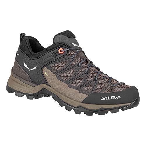Salewa WS Mountain Trainer Lite Gore-Tex, Trekking-& Wanderstiefel Mujer, Marrón (Wallnut/Fluo Coral 7517), 37 EU