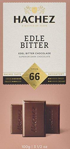 Hachez Tafel Edle Bitter 66%, 5er Pack (5 x 100 g)