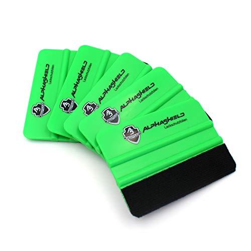 Rakel mit Filz Filzkante Folienrakel Filzrakel aus Kunststoff Profi Werkzeug Zubehör Folierung Folieren für Autofolie Möbelfolie Fensterfolie T043 (5er Set Rakel)