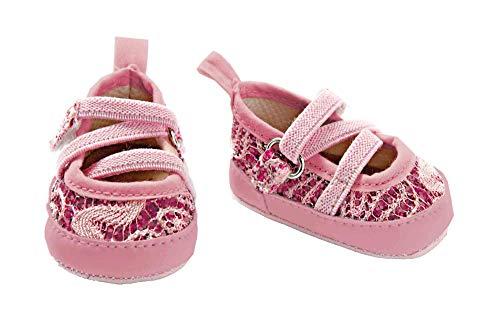 Heless 845 - Zapatos para muñeca con cierre de cintas flexibles, diseño con flor, surtido: modelos/colores aleatorios
