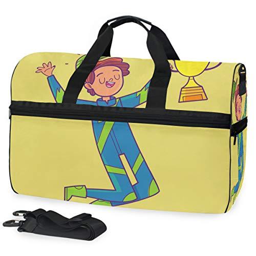 Borsone da viaggio Champion Boy Borsone bagagli sport palestra per donne e uomini