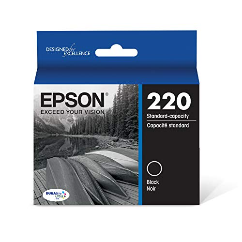 Epson T220120 DURABrite Ultra Black Standard Capacity Cartridge Ink (WF-2760, WF-2750, WF-2660, WF-2650, WF-2630, XP-424, XP-420, XP-320)