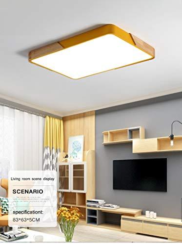 Led-plafondlamp, 40 x 50 x 60 cm, vierkant, afstandsbediening, ultradun, voor slaapkamer, balkon, badkamer, keuken Yellowsquare40*40cm