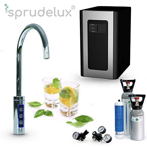 Untertisch-Trinkwassersystem SPRUDELUX® Blue Diamond inklusive 3-Wege-Zusatzarmatur + 6 kg CO2 Eigentumsflasche gefüllt. Profi-Wassersprudler für den Privathaushalt. Spritziges Mineralwasser