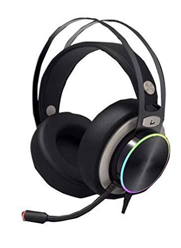 YYZLG USB 7.1 Gaming Headset, RGB Streamer Lichter Over-Ear-Kopfhörer mit Rauschunterdrückung Mikrofon, 50 mm Lautsprecher, 3D Virtual Surround Sound VR Game Headset