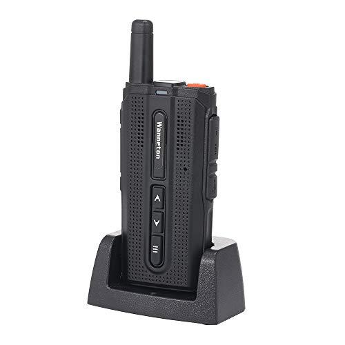 OWSOO Walkie Talkie Mini Funkgerät 1800mAH UHF 400-520 MHz 16 Kanäle Tragbarer Handfunkempfänger Sprechanlage VOX-Funktion Batteriesparende LED-Taschenlampe Funksprechgerät