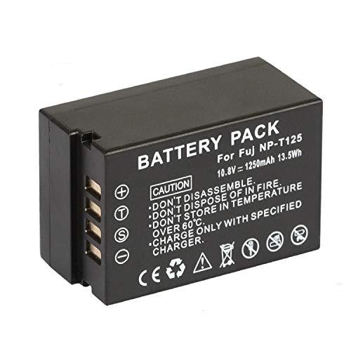 NP-T125 NP T125 NPT125 Reemplazo de batería para Fujifilm GFX 50S GFX50S GFX 50R GFX50R GFX 100 Camera and Fujifilm VG-GFX1 Vertical Battery Grip(10.8v 1250mah)