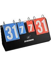 Asixx Marcador,Marcador Deportivo, Marcador de 4 Dígitos, 39.8 * 18.5 * 15cm Marcador para Tenis, Baloncesto, Fútbol, Etc
