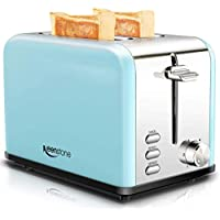 Keenstone Stainless Steel Retro Toaster with Cancel Bagel Defrost Function