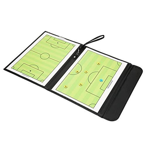Qqmora Tablero táctico Tablero Transparente para Entrenadores Tablero de Baloncesto Tablero de enseñanza Plegable Exquisito para Entrenamiento de fútbol